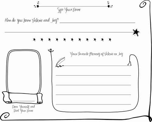 Diy Guest Book Templates Best Of Diy Wedding Guestbook