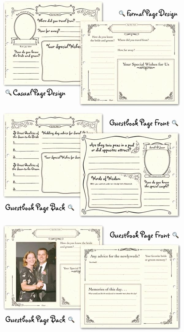 Diy Guest Book Templates Fresh Wedding Guest Book Pages