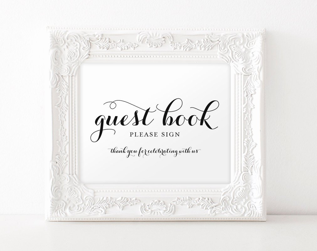 Diy Guest Book Templates Lovely Guest Book Printable Guest Book Sign Wedding Guest Book