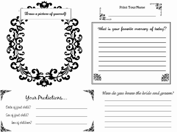 Diy Guest Book Templates Unique 34 Best Dyi Printable Wedding Guest Book Alternative