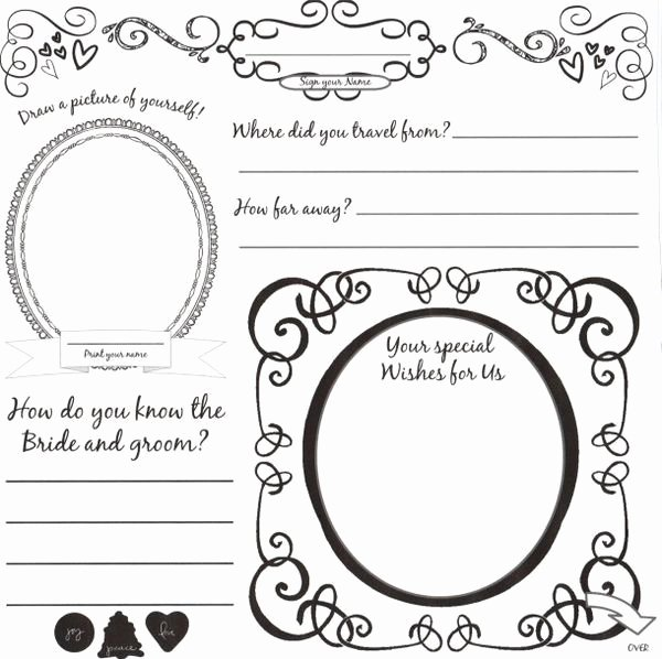 Diy Guest Book Templates Unique Diy Wedding Guestbook Templates