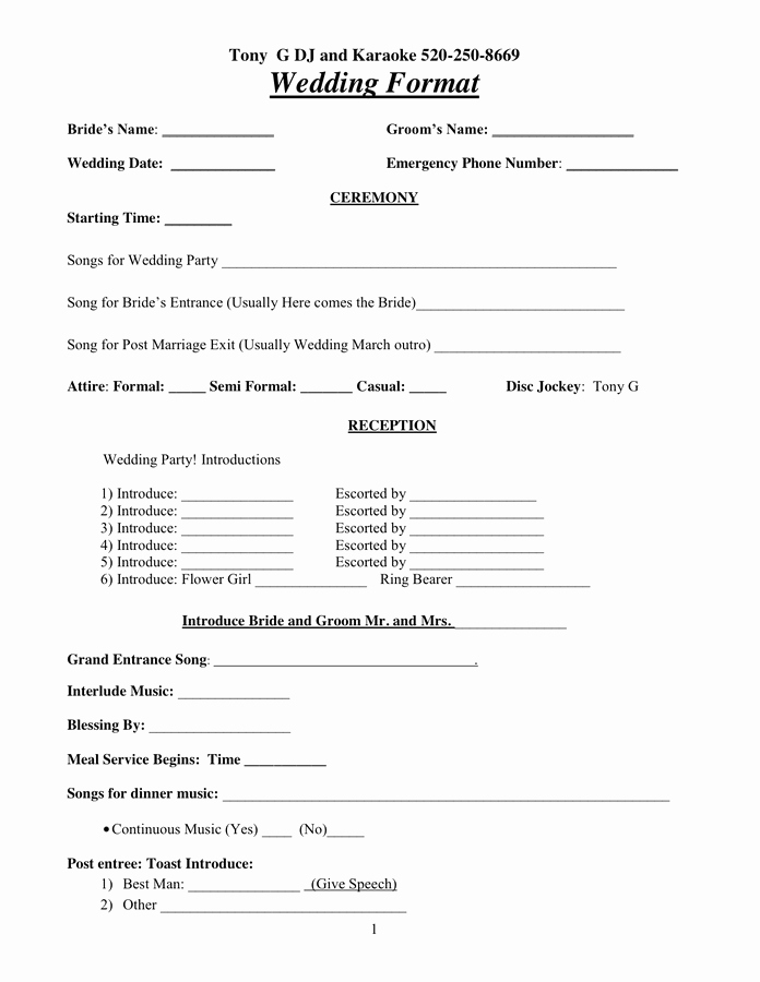 Dj Service Contract Template New Dj Contract In Word and Pdf formats