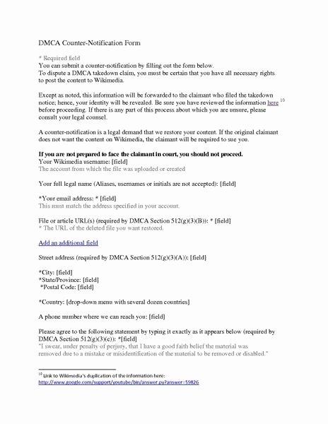 Dmca Takedown Notice Template Luxury File Memo Wmf Dmca Takedown and Counterclaim