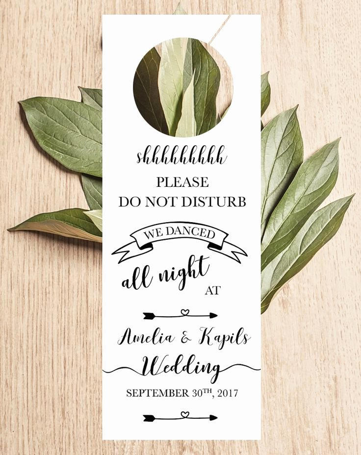 Do Not Disturb Sign Template Best Of Wedding Door Hanger Printable Wedding Door Knob Sign