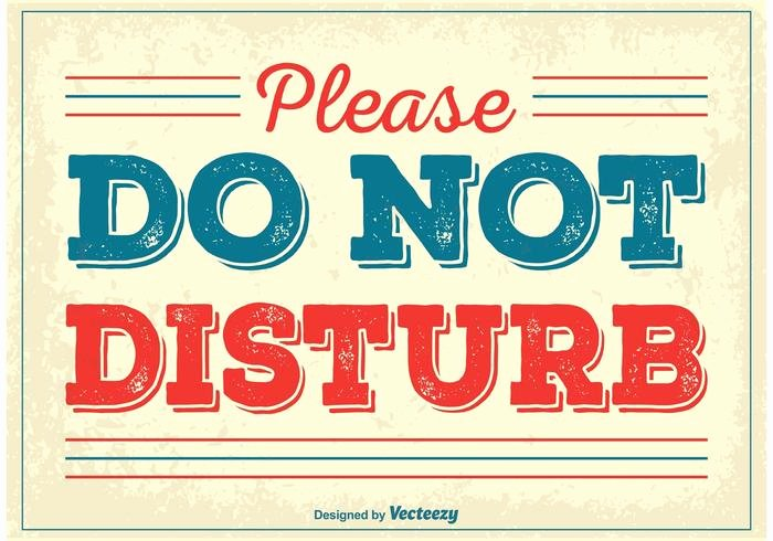 Do Not Disturb Signs Template Best Of Vintage Do Not Disturb Poster Download Free Vectors