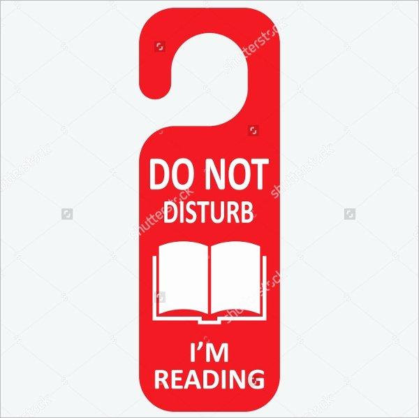 Do Not Disturb Signs Template Lovely 10 Education Door Hanger Templates Psd Vector Illustrator