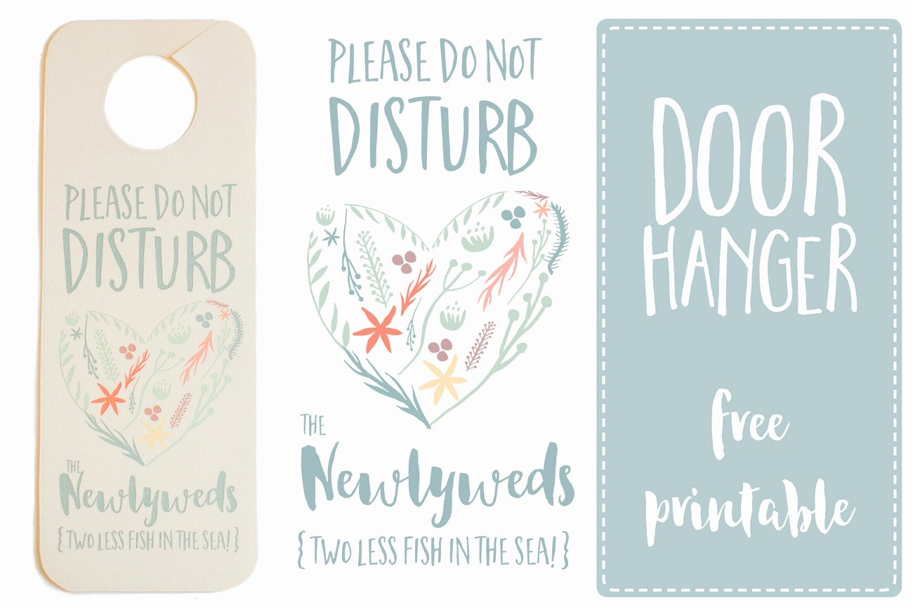 Do Not Disturb Signs Template Lovely Do Not Disturb the Newlyweds Door Hanger Printable Free