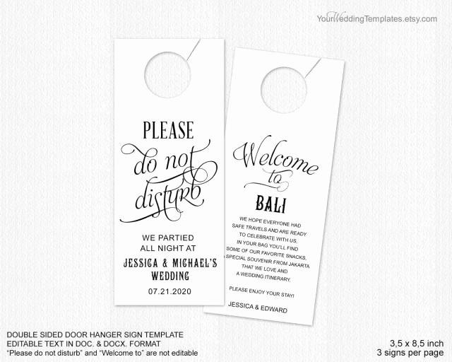Do Not Disturb Signs Template Lovely Invitation Do Not Disturb Door Hanger Weddbook