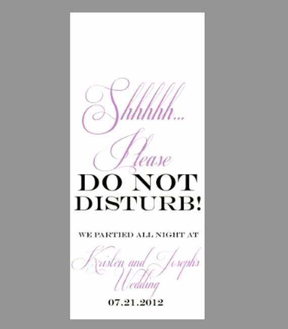 Do Not Disturb Signs Template Luxury Items Similar to Wedding Do Not Disturb Sign Door Hanger