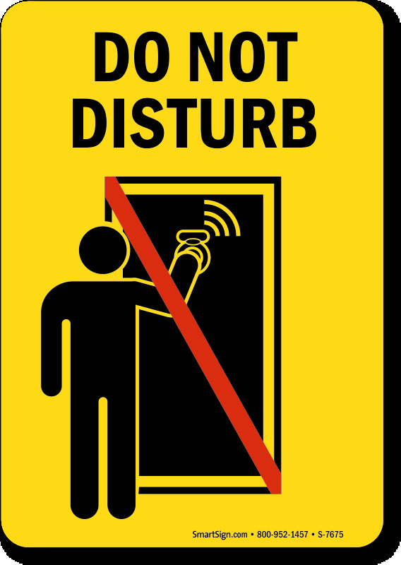 Do Not Disturb Signs Template New Do Not Disturb Sign with Graphic 5 X 7 to 7 X 10 Inches