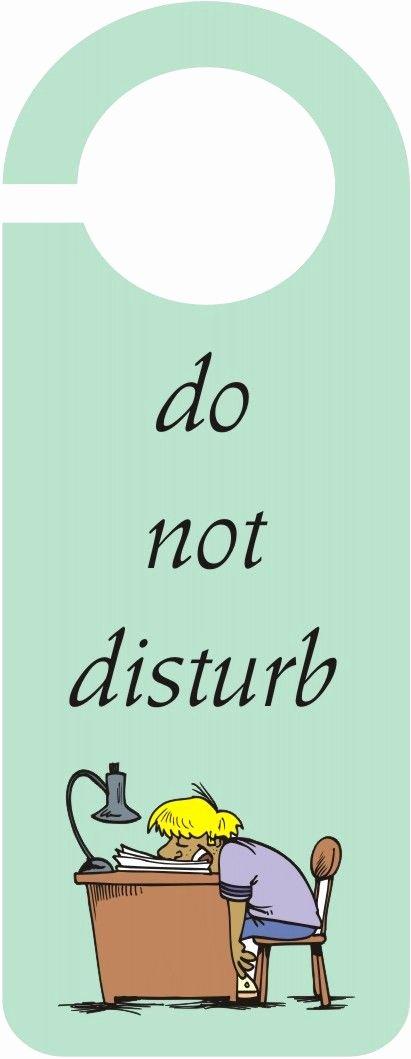 "Do Not Disturb Signs Template Unique ""do Not Disturb"" Door Hanger Crafts Arts"
