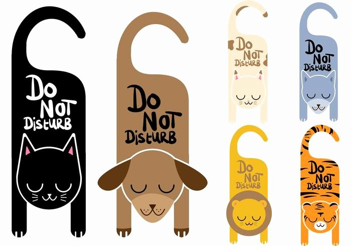 Do Not Disturb Signs Template Unique Do Not Disturb Vector Signs Animals Download Free Vector
