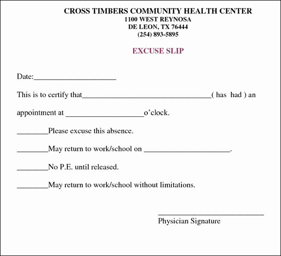 Doctors Excuse for Work Template Beautiful Doctors Note for Work Template Health In 2019