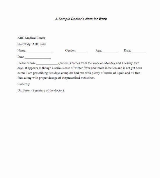 Doctors Excuse for Work Template Fresh 27 Free Doctor Note Excuse Templates Free Template