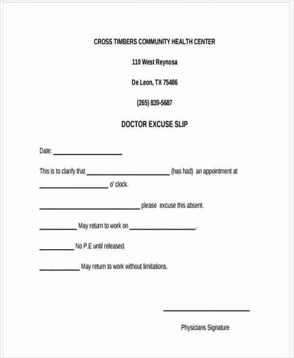 Doctors Excuse for Work Template Inspirational 37 Free Doctors Note Templates
