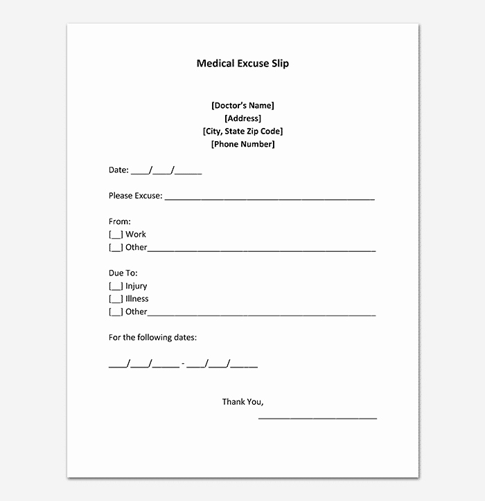 Doctors Excuse Template for Work New 40 Fake Doctors Note Template Download [pdf Doc]
