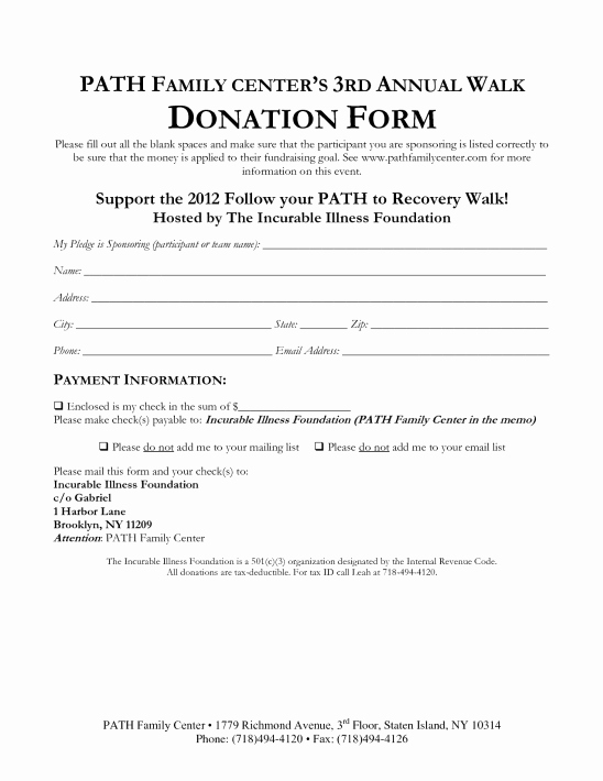 Donation Pledge form Template Elegant 36 Free Donation form Templates In Word Excel Pdf