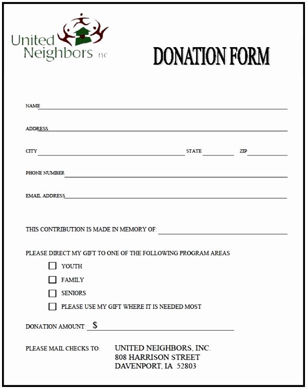 Donation Pledge form Template Lovely 9 Charity Pledge form Template Dtauw