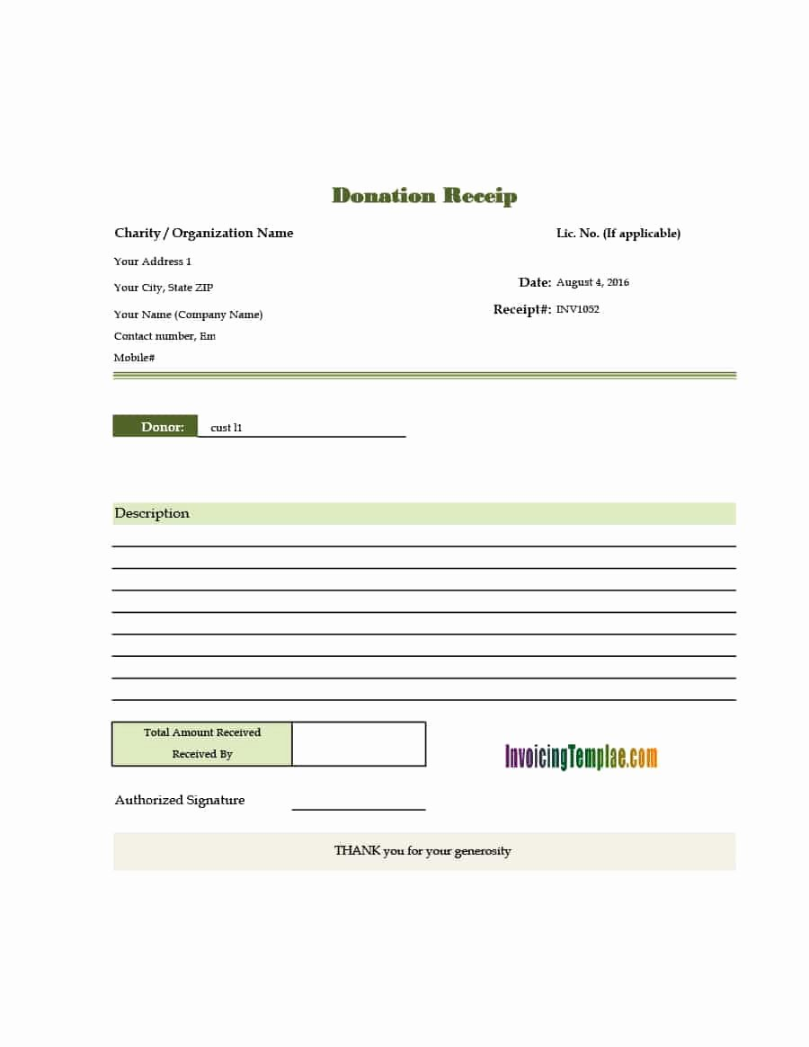 Donation Receipt Letter Templates Beautiful 40 Donation Receipt Templates & Letters [goodwill Non Profit]