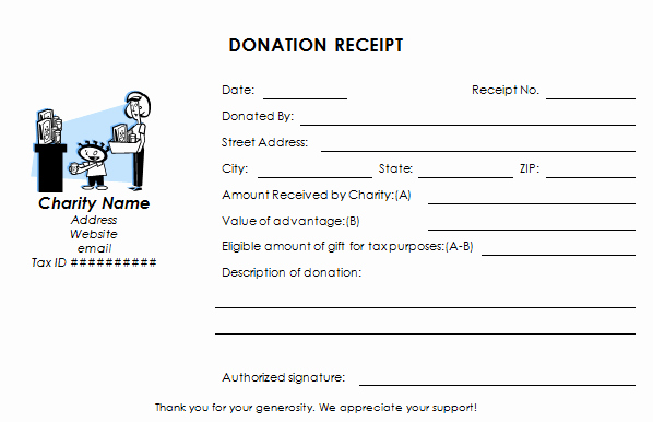Donation Receipt Letter Templates Beautiful Tax Deductible Donation Receipt Template – Analysis Template