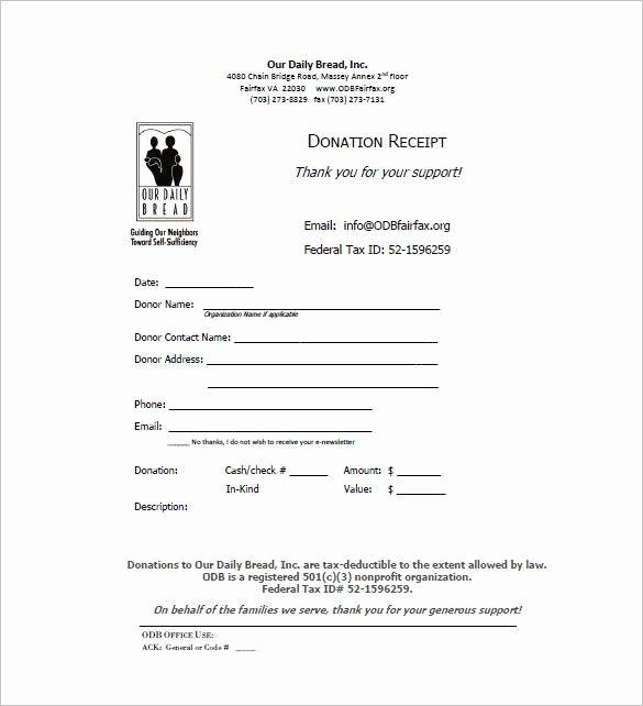 Donation Receipt Letter Templates Elegant Donation Receipt Bar