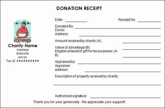 Donation Receipt Letter Templates Elegant Sample Donation Receipt Template 17 Free Documents In
