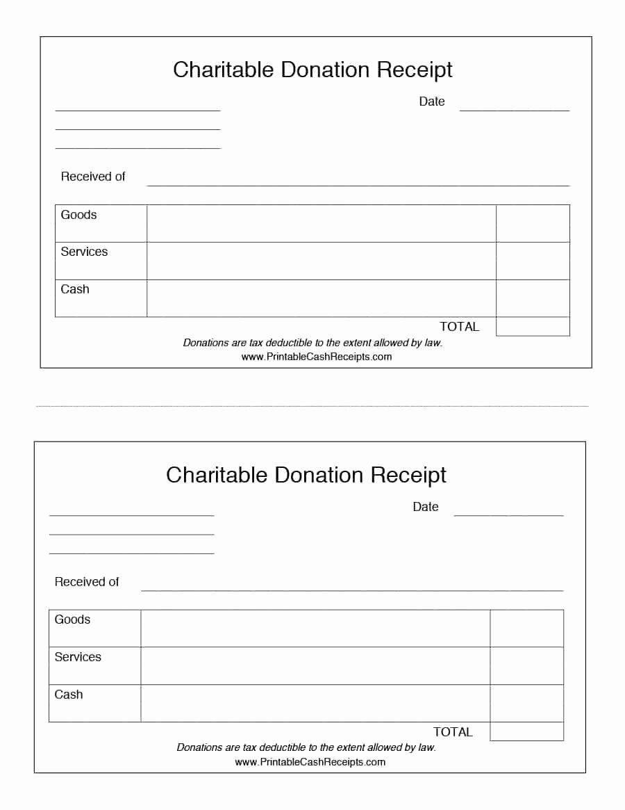Donation Receipt Letter Templates Fresh 40 Donation Receipt Templates & Letters [goodwill Non Profit]