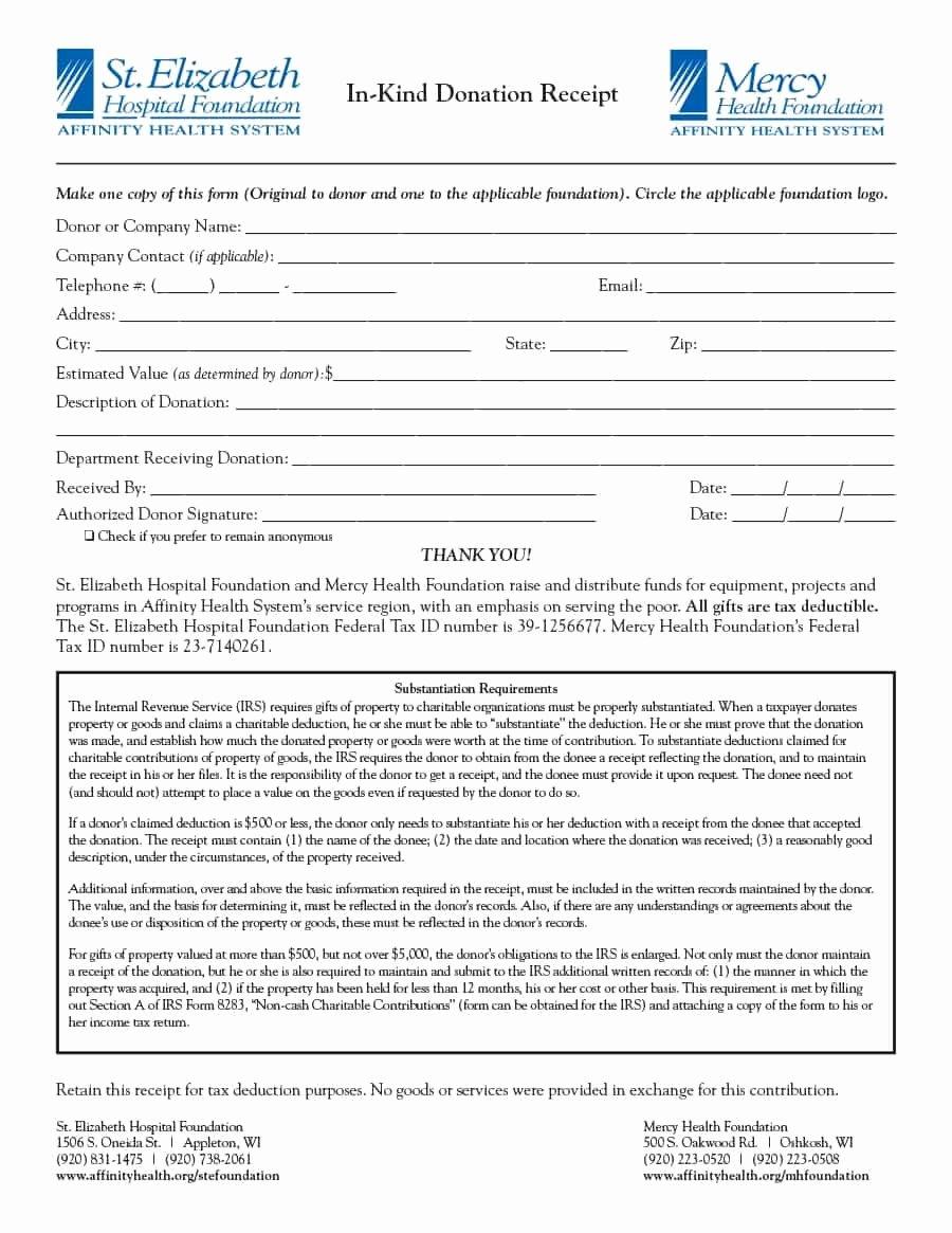 Donation Receipt Letter Templates Unique 40 Donation Receipt Templates & Letters [goodwill Non Profit]