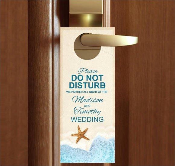 Door Hanger Template for Word Awesome 9 Wedding Door Hanger Templates for Free Download