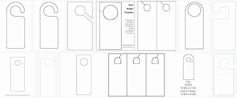 Door Hanger Template for Word Awesome About Hangers Constructions Clothes Food and Health