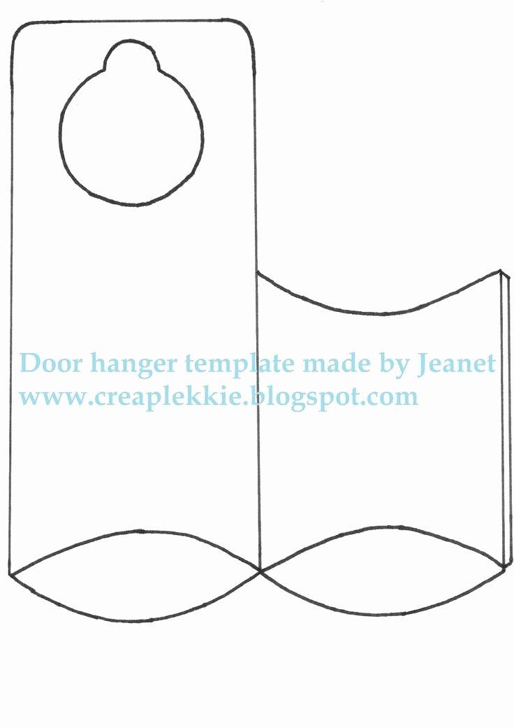 Door Hanger Template for Word Beautiful 25 Best Ideas About Door Hanger Template On Pinterest