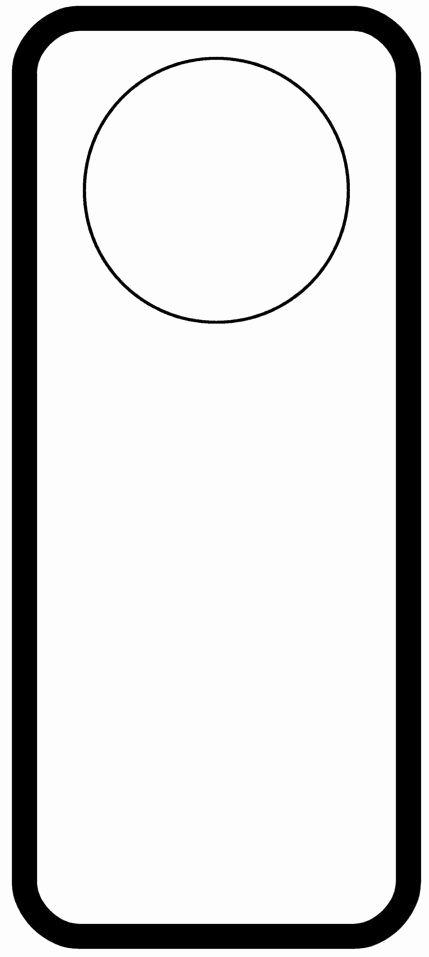 Door Hanger Template for Word Elegant Door Hanger
