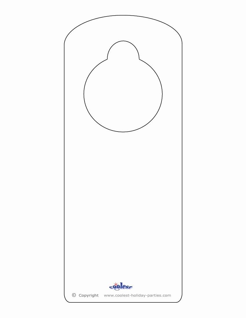 Door Hanger Template for Word Luxury Blank Printable Doorknob Hanger Template