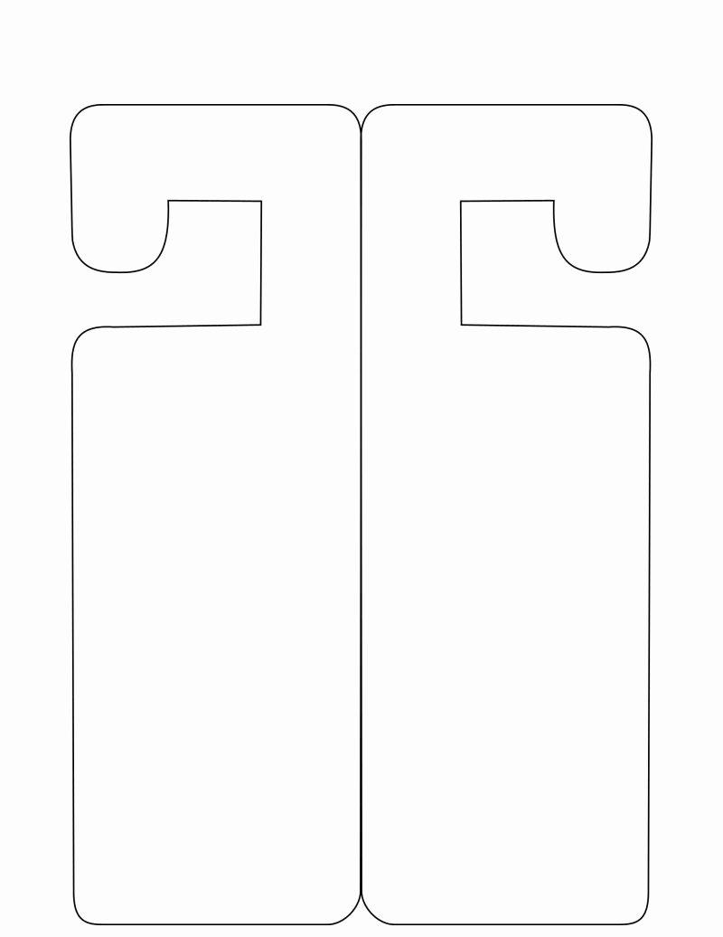 Door Hanger Template for Word New Door Hanger Template