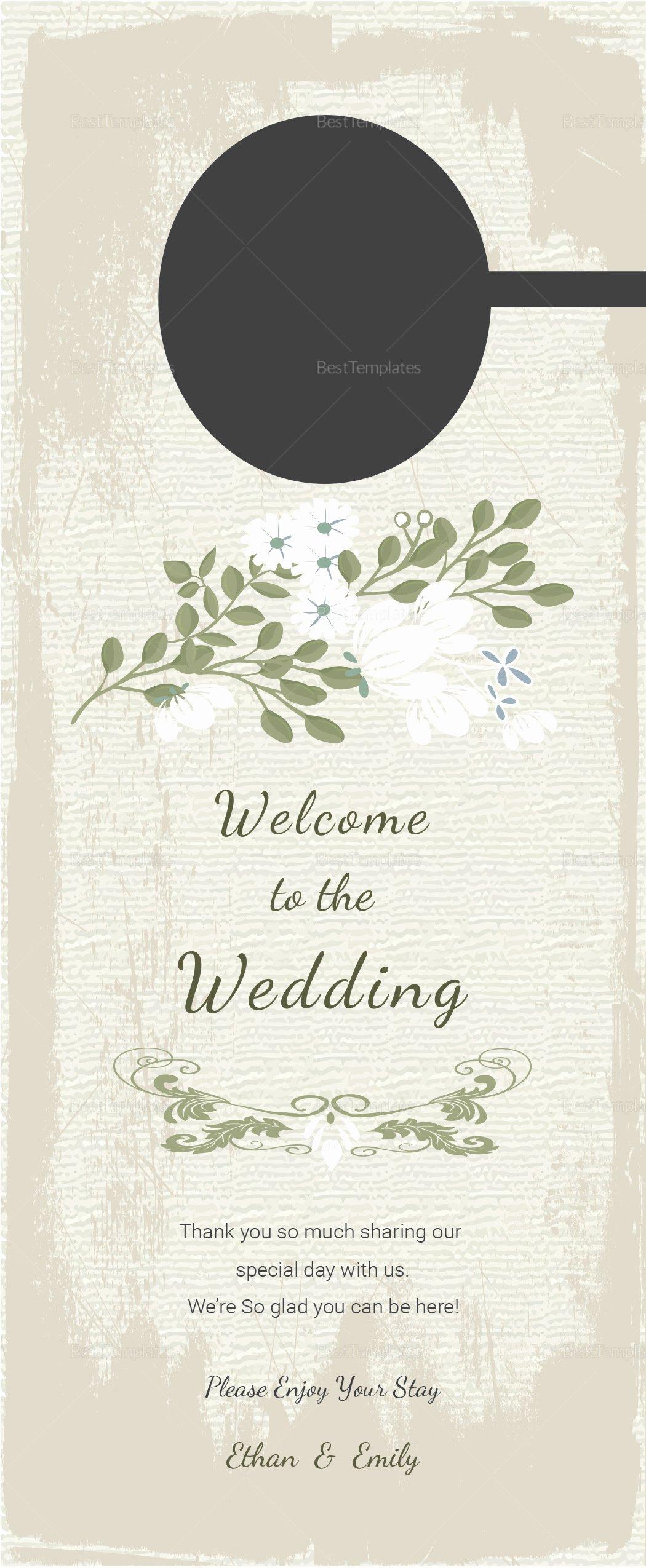 Door Hanger Template Illustrator Best Of Vintage Wedding Door Hanger Template In Psd Word