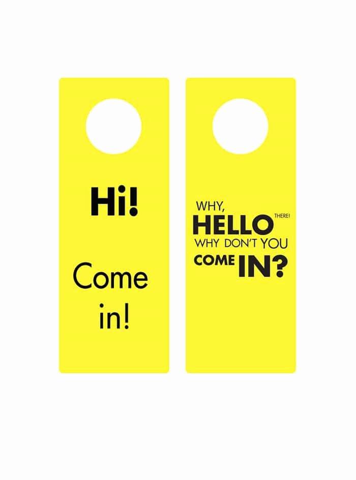 Door Hanger Template Illustrator Elegant 43 Free Door Hanger Templates Word Pdf Template Lab