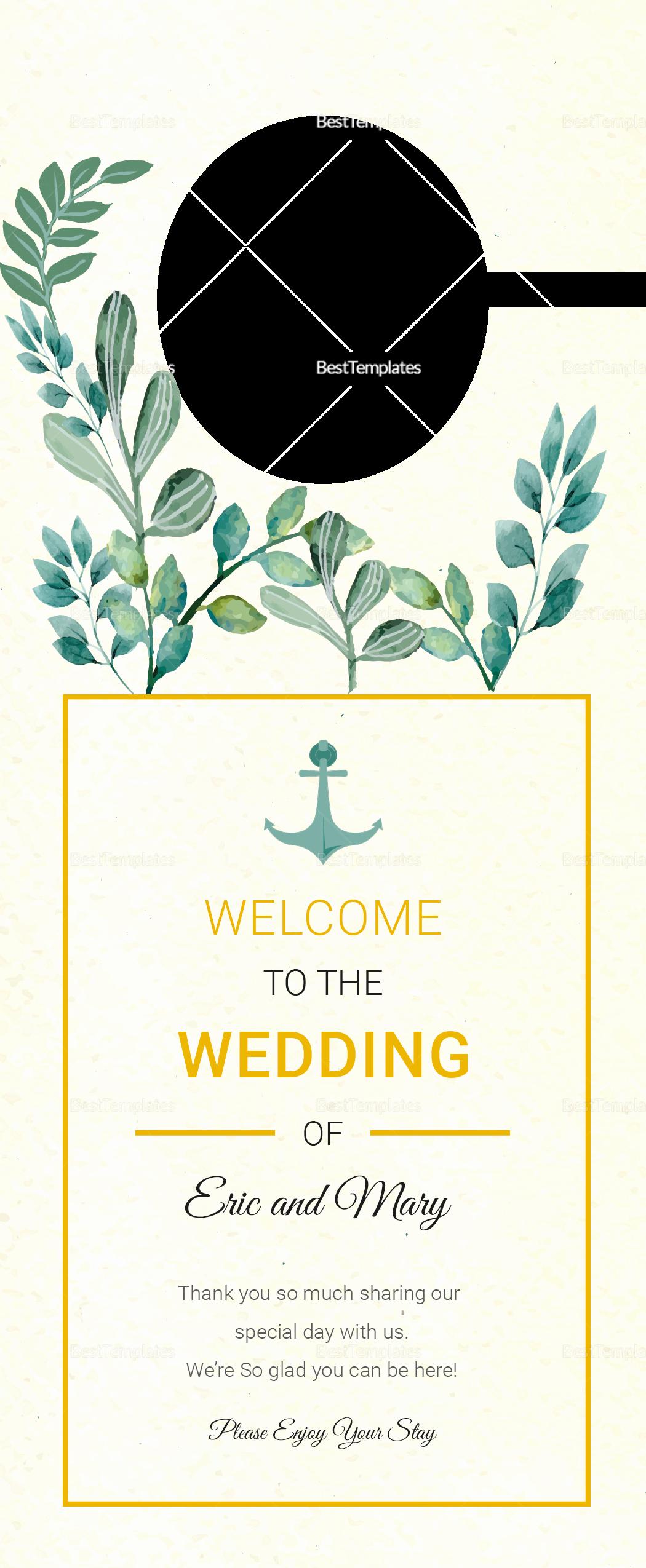Door Hanger Template Illustrator Elegant Nautical Wedding Door Hanger Template In Psd Word