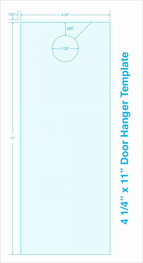 Door Hanger Template Illustrator Fresh Free 15 Door Hangers In Psd Vector Eps