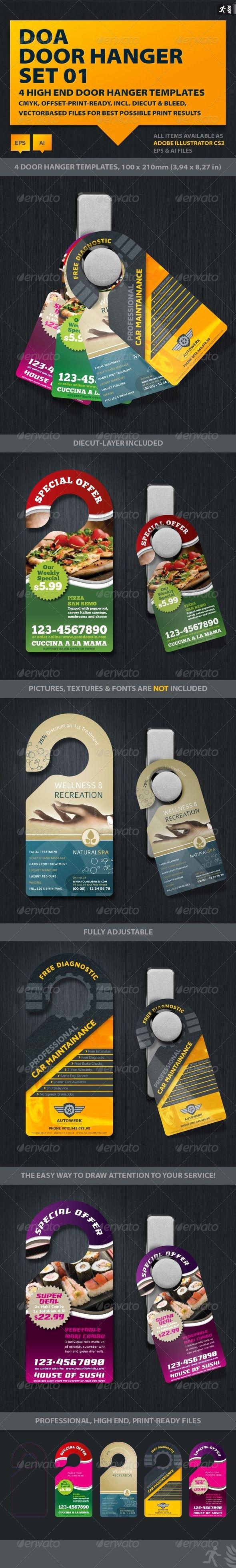 Door Hanger Template Illustrator Luxury Doa Door Hanger Set 01 Graphicriver Item for Sale