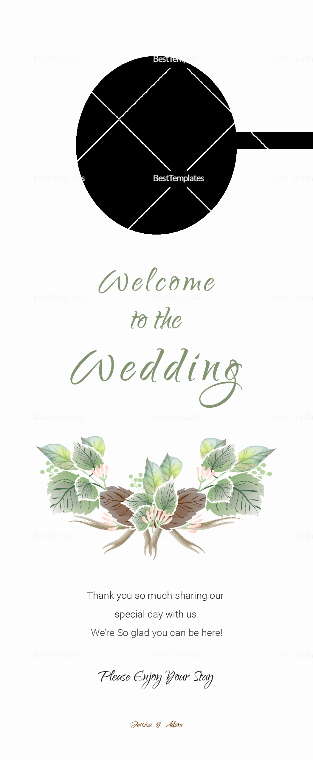 Door Hanger Template Illustrator New Fall Wedding Door Hanger Template In Psd Word Publisher