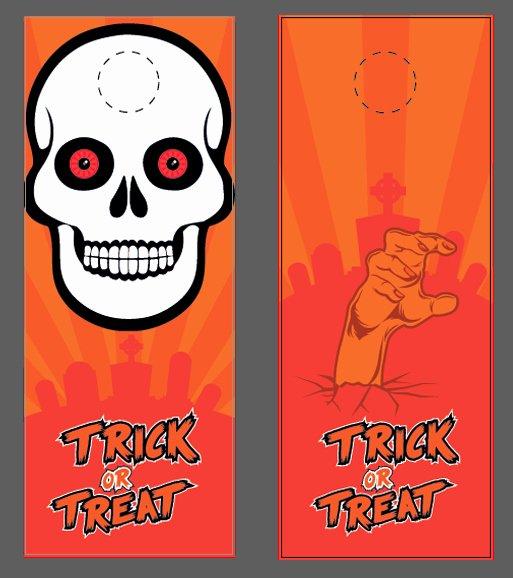 Door Hanger Template Illustrator Unique Free Halloween Templates & Vector Files