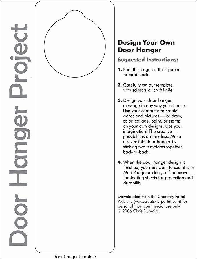 Door Hanger Template Publisher Awesome Door Hanger Template