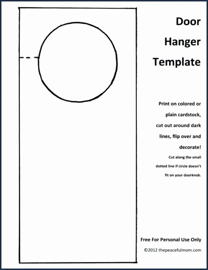 Door Hanger Template Publisher Beautiful Free Door Hanger Template for Word Template 1 Resume
