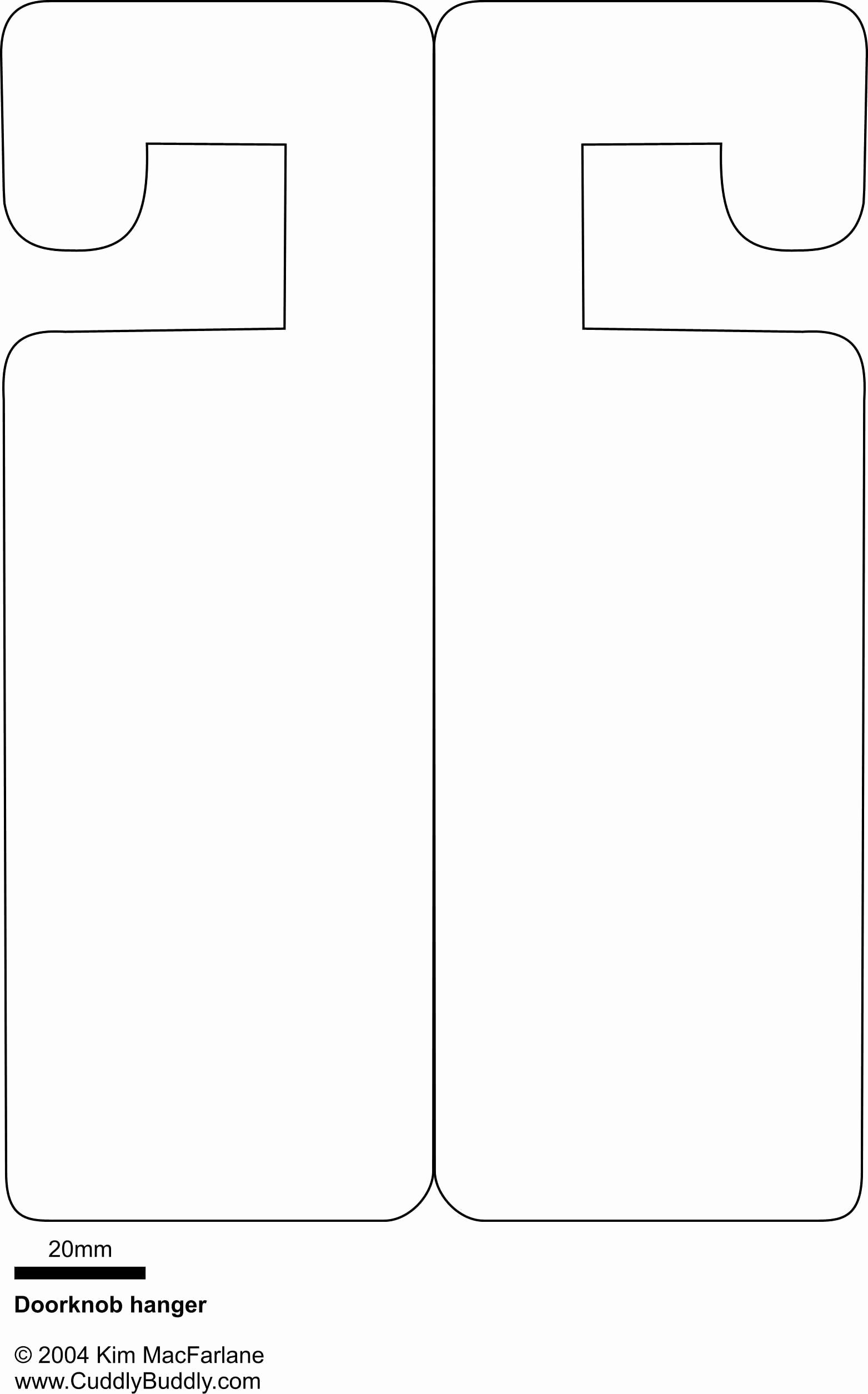 Door Hanger Template Publisher Elegant Doorknob Hanger Template something to Occupy the Kids On