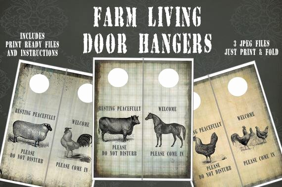 Door Hanger Template Publisher Elegant Farm Living Door Hangers and Template Instant Download 3