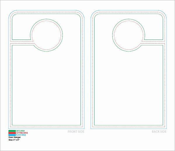 Door Hanger Template Word Awesome Free 15 Door Hangers In Psd Vector Eps