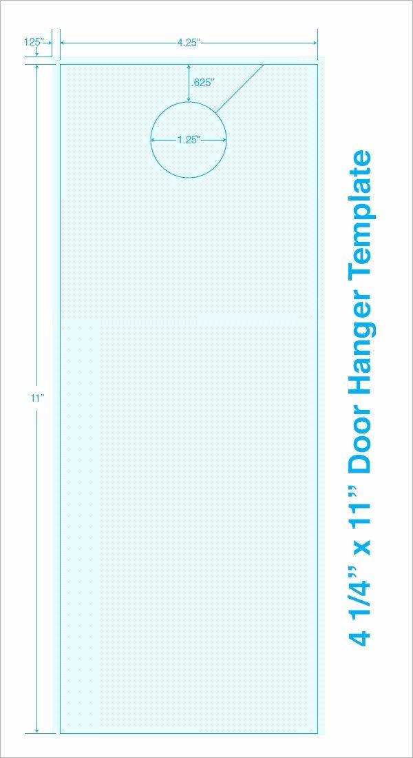Door Hanger Template Word Beautiful Free 15 Door Hangers In Psd Vector Eps