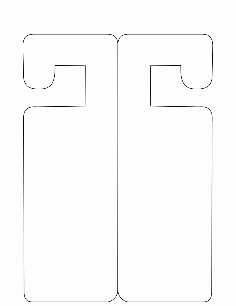 Door Hanger Templates for Word Unique Door Hanger Template