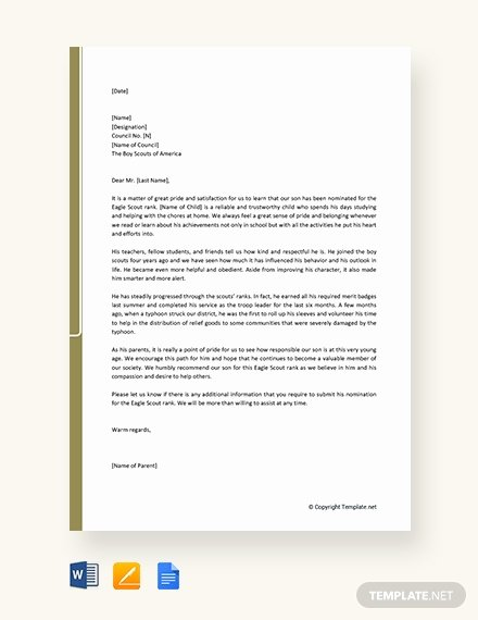 Eagle Scout Reference Letter Template Beautiful Free Thank You Letter to Parents Template Download 1440