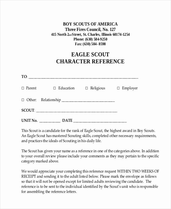 Eagle Scout Reference Letter Template Lovely Eagle Scout Parent Re Mendation Letter Template Linoahey